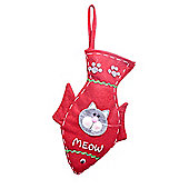 Grey Cat Lovers Christmas Stocking