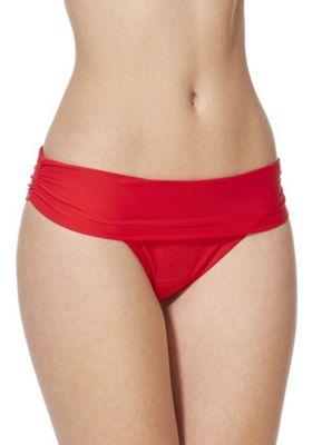F&F Shaping Swimwear Fold-Over Bikini Briefs Red 16