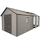 11ft x 21ft Duramax Plus Plastic 11x21 Apex Shed with Plastic Floor + 6 windows (3.37m x 6.41m) 11 x 21