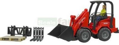 Schaffer Compact loader 2034 with figure and accessories - 1:16 Scale