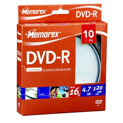Maplin 16x Speed DVD-R 10-Pack