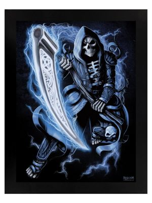 Requiem Collective Death Before Dawn Black Wooden Framed Mini Poster 35x45cm