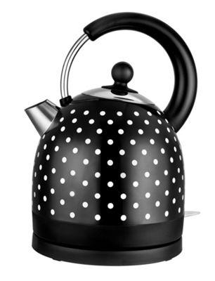 KitchenOriginals by Kalorik Black Polka Dot Dome Kettle