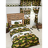 Army Camp Camo Junior Duvet Cover Set