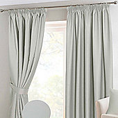 Homescapes Ivory Herringbone Chevron Blackout Curtains Pair Pencil Pleat, 66x54""