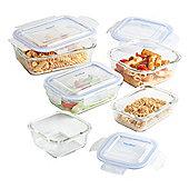VonShef 5 Piece Glass Container Food Storage Set