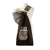 Palm and Pond Ring Sling Baby Carrier - Brown Zebra