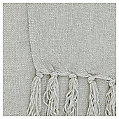 Tesco Chenille  Silver Throw