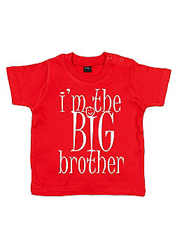 Dirty Fingers I'm the BIG Brother Baby T-shirt - Red