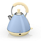 Swan Retro Pyramid Kettle, 2L - Blue
