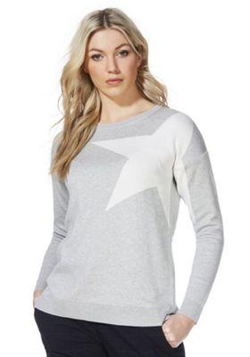 F&F Oversized Star Print Jumper Grey 18