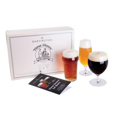 Dartington Crystal Three Cheers for Beers Three Pack Beer Glass Set