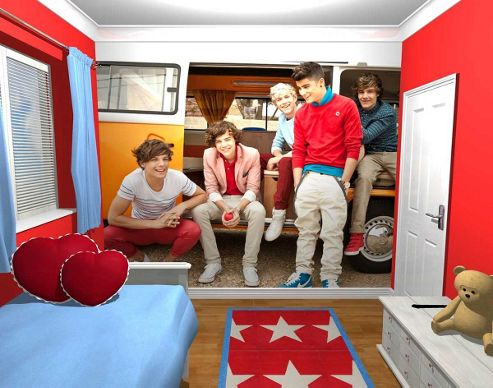 1Wall One Direction Campervan Wall Mural