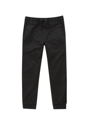 F&F Drawstring Waist Cuffed Trousers Black 5-6 years