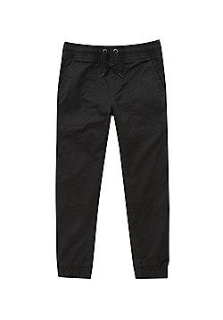 F&F Drawstring Waist Cuffed Trousers - Black