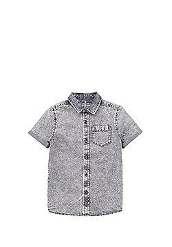 F&F Acid Wash Short Sleeve Shirt - Grey