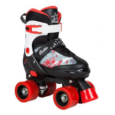 Rookie Ace Junior Childrens Quad Adjustable Roller Skates JNR 8 - 11