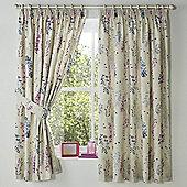 Dreams n Drapes Haze Lined Curtains 66X72 Inches (168x183cm) - Blue