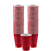 Red Cups - 355ml Plastic Party Cups - 50 Pack
