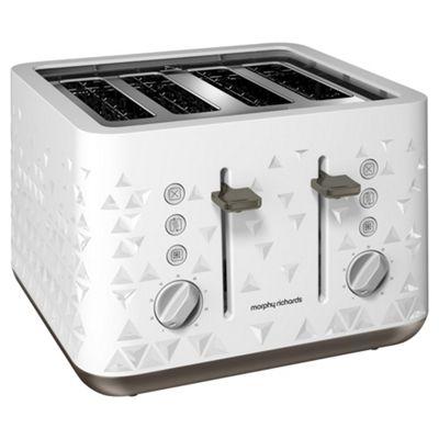 Morphy Richards 248102 Prism 4 Slice Toaster - White