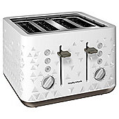 Morphy Richards 248102 Prism 4 Slice Toaster - White