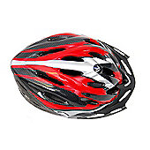 Coyote Sierra Dial Fit Adult Cycling Helmet Red Medium