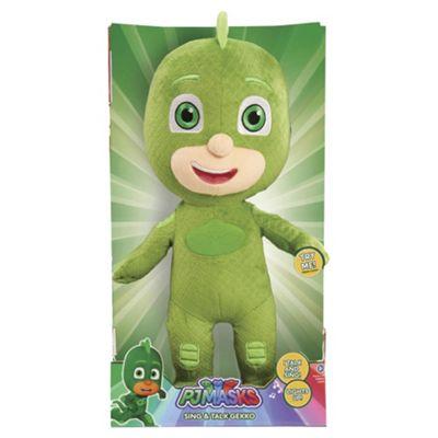 PJ Masks Sing And Talk Gekko Soft Toy