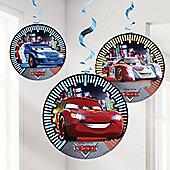 Disney Cars Neon Decorations - 1.2cm Hanging Cutouts