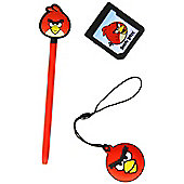 Angry Birds Stylus Essentials Set (3pc) For Nintendo 3ds, Red Bird (35193) - Nintendo3DS