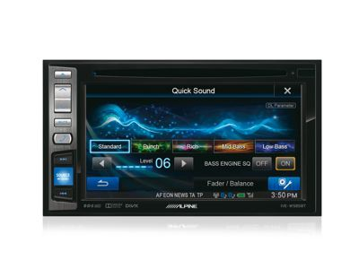 Alpine In Car Stereo-Media Station│2DIN│RDS│Bluetooth│USB│iPod-iPhone-Android│IVE W585BT
