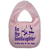 Dirty Fingers I'm the Goddaughter future head of the family Bib Pink