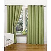 Hamilton McBride Canvas Unlined Ring Top Curtains - Green