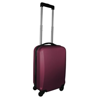 Buy Tesco Hard Shell 4-Wheel Suitcase, Purple Small from our Hand ...