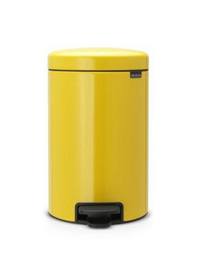 Brabantia newIcon Pedal Bin, 12L, Daisy Yellow