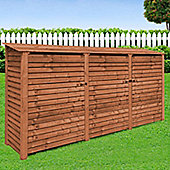 Empingham wooden log store with doors - 6ft