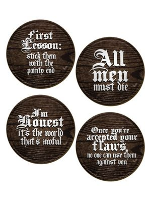 Iconic Character Quotes - Set Of 4 Coasters