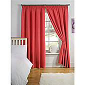 Hamilton McBride Thermal Backed Pencil Pleat Curtains - Red