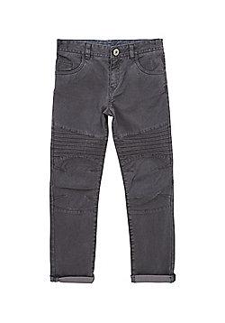 F&F Biker Seam Skinny Trousers - Grey