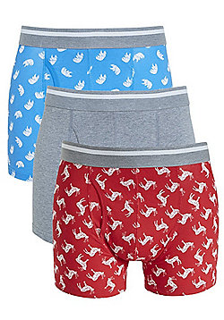 F&F 3 Pack of Stag Trunks - Multi