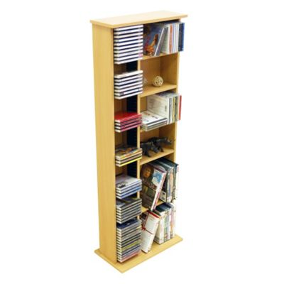 Techstyle CD / DVD / Video Multimedia Storage Unit - Beech