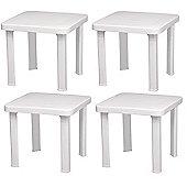 Resol Sun Lounger Side Table / Garden Table Polypropylene Plastic (Pack of 4)