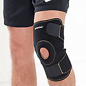 Gold Coast Breathable Neoprene Adjustable Open Patella Stabilising Knee Support - Black