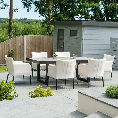 Nova - Hadid Outdoor Fabric Dining Set - 6 Seat Rectangular - Canvas