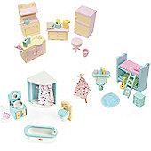 Sweetbee Kitchen, Bedroom & Bathroom Dolls House Furniture