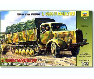 Zvezda - German Heavy Halftrack L4500 R Maultier - 1:35 Scale 3603