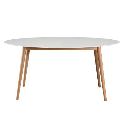 Tretton White Oval Dining Table