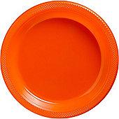 Orange Serving Plates - 26cm Plastic - 20 Pack