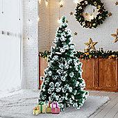 Homcom Christmas Tree Artificial Berry Xmas Decoration with Metal Stand (7ft / 210cm)