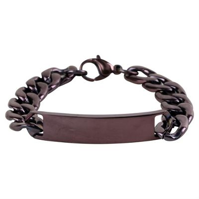 Urban Male Finsbury Copper Finish Men's Identity Bracelet In Stainless Steel