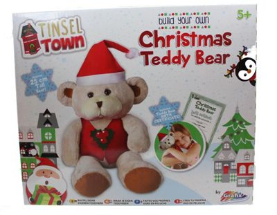Grafix Tinsel Town Build Your Own Christmas Teddy Bear Festive Activity